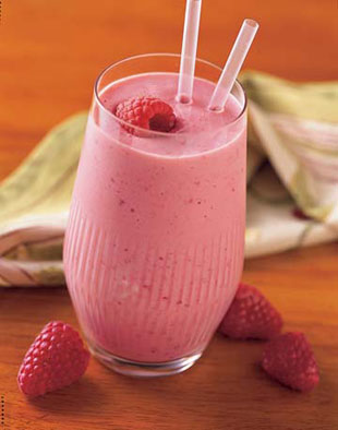 Spiced Apple Raspberry Smoothie